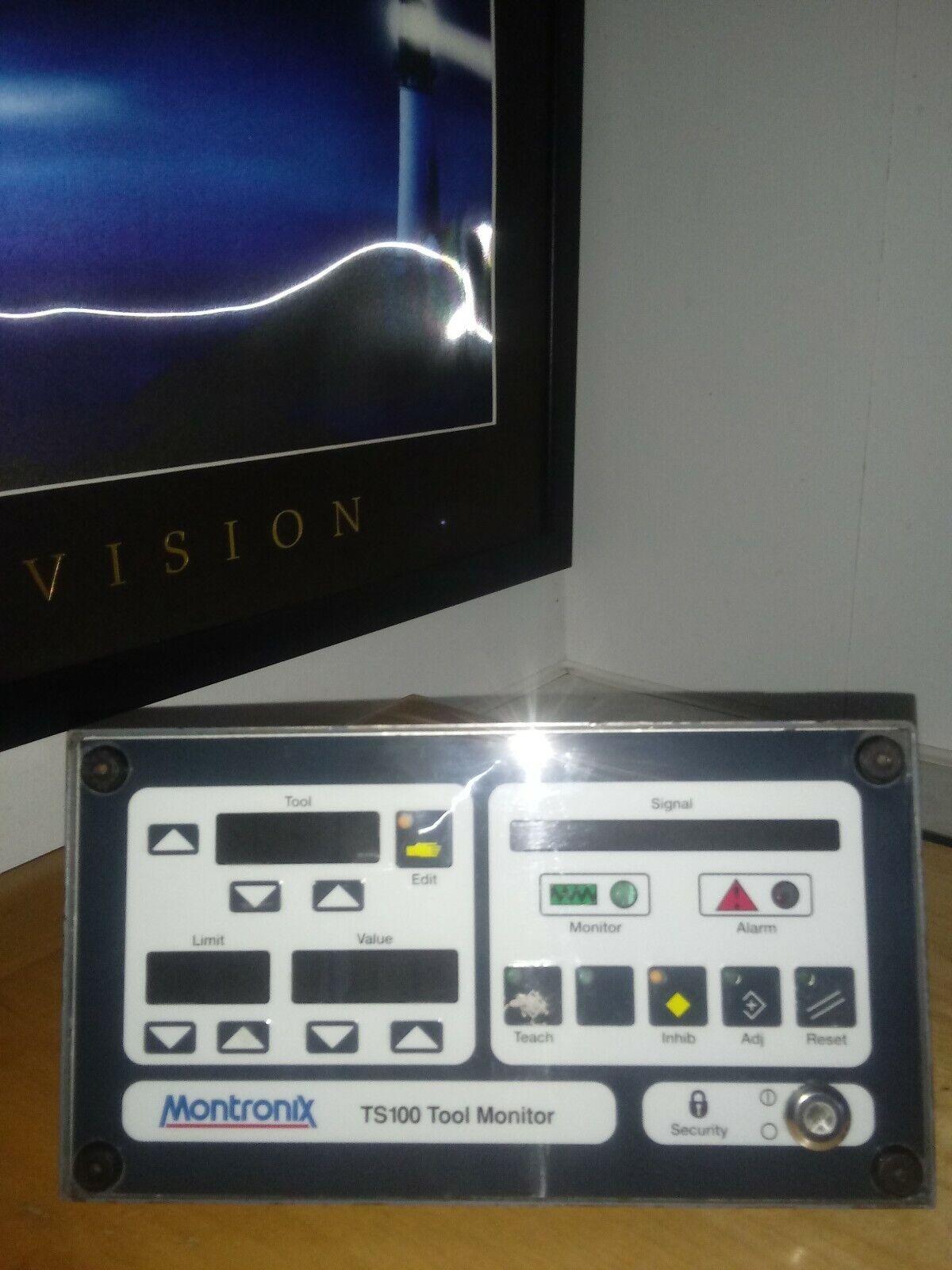 Montronix TS100 Tool Monitor Operator Interface Data Control Keypad Used Working