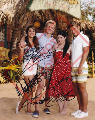8.5x11 Autographed Signed Reprint RP Photo Teen Beach Movie - Cast