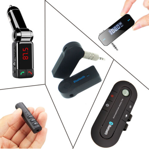 Wireless Bluetooth Car Kit FM Transmitter Hands free Audio Music Receiver Mini