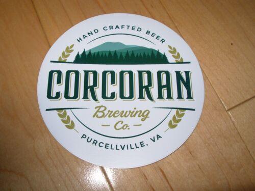 CORCORAN BREWING CO Virginia Circle Logo Sticker decal craft beer brewery