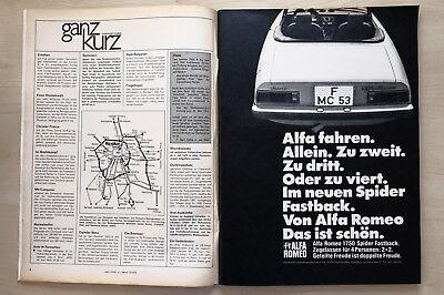Anzeige/werbung Alfa Romeo 1750 Spider Fastback Auto & Motorrad: Teile Automobilia