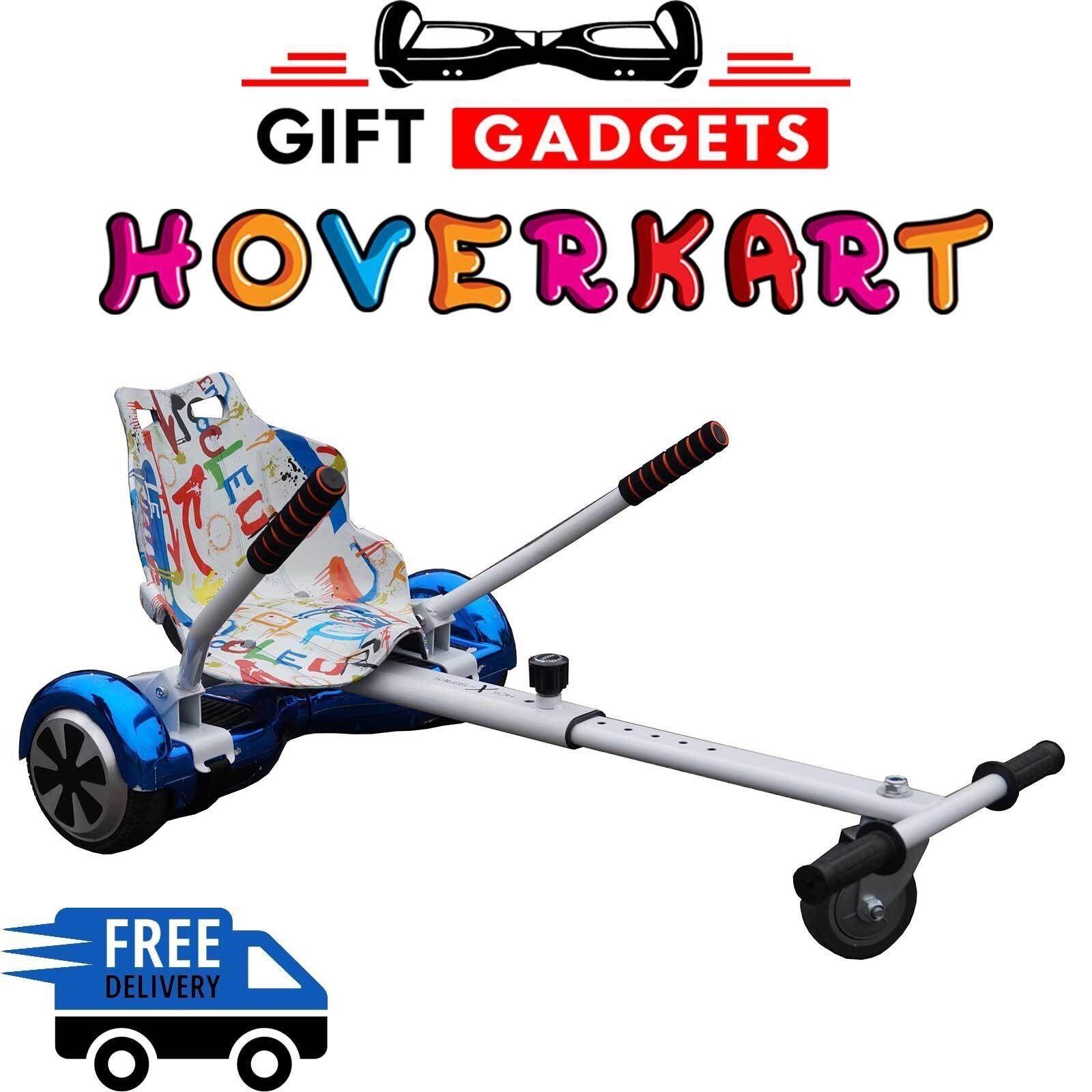 CHRISTMAS OFFER GRAFFITI WHITE Hoverkart GoKart Hover Kart For Balance Board