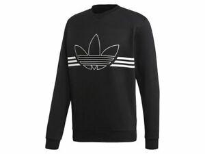 Details zu Adidas Outline Crw Flc Herren Sweatshirt ED4685