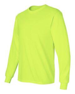 24 T-shirts Blanc 12 sécurité Vert 12 sécurité orange Vrac Lot S-XL Gildan 5000