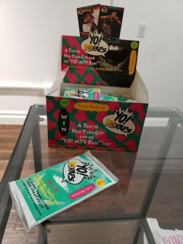 Yo! MTV Raps sealed wax pack trading cards 1991 Old School Hip Hop