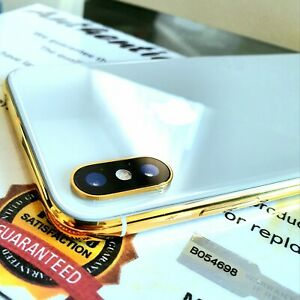 24k-Gold-Plated-Apple-iPhone-X-Unlocked-64gb-Smartphone-Silver-Boxed