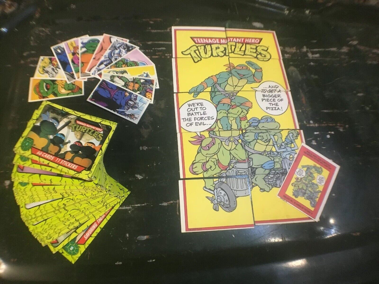 Raro 1991 Topps 66 Tmnt Teenage Mutant Ninja Turtles Trading Cocheds + conjunto PG Tips
