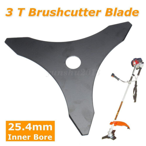 "3T Brush Cutter Trimmer Blade 3 Tooth Tool Diameter Black 10/"" Thickness 1.5mm"