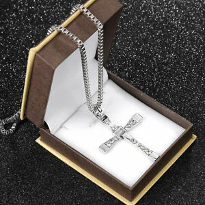 Hot-The-Fast-and-The-Furious-Dominic-Toretto-CROSS-PENDANT-Chain-Necklace-PM