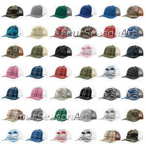 b6667bb27c2 Image is loading Richardson-Mens-Trucker-Patterned-Snapback-Cap-Baseball-Hat -