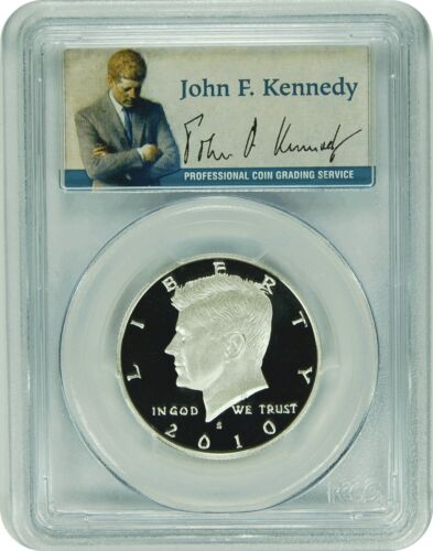 Presidential Label 2010-S PCGS PR70DCAM Kennedy SILVER Half Dollar