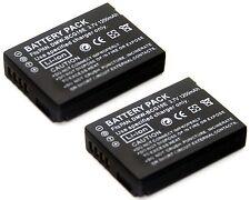 2x Li-ion Battery for DMW-BCG10E Panasonic Lumix DMC-3D1 DMC-TZ6 DMC-TZ7 DMC-TZ8