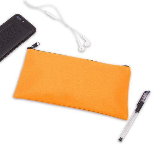 DALIX Zipper Bank Deposit Money Bags Cash Coin Pouch 6 Pack in Orange