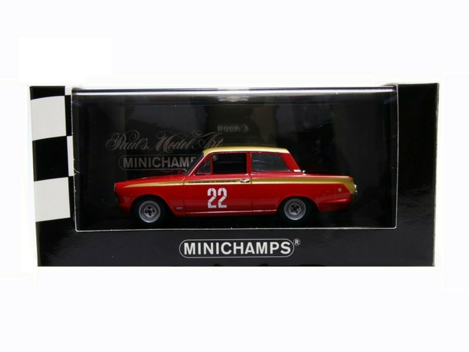 WOW EXTREMELY RARE Ford Cortina MkI 1964 GT Lotus Whitmore ETCC 1 43 Minichamps