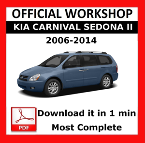 official workshop manual service repair kia sedona 2006 2014 ebay rh ebay ie 2007 Kia Sedona 2011 Kia Sedona