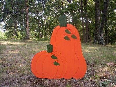 Dble Pumpkin Fall Halloween Thanksgiving Yard Art Decoration Choose From 4 Sizes
