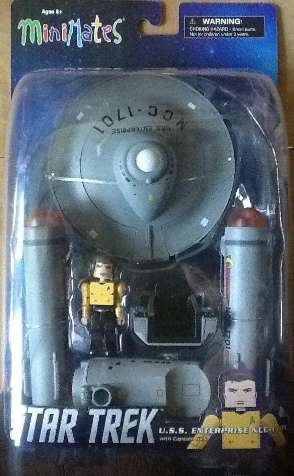 Star Trek Minimates U.S.S Enterprise Enterprise Enterprise Vehicle with Capt Kirk in Yellow MINT 6c3c22