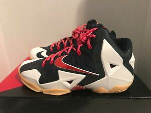 online retailer a2cc2 2dd25 Image is loading Nike-LeBron-XI-USA-Independence-Day-Men-039-