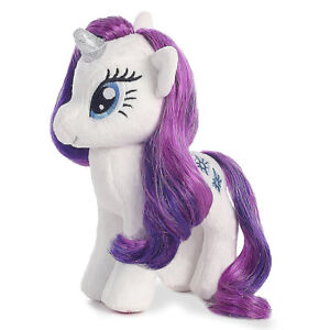 Ty-Beanie-Sparkle-16-My-Little-Pony-Plush-Rarity-Unicorn-MLP-Stuffed-Animal-Toy