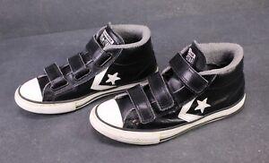 CB471-Converse-Star-Player-3-V-Chucks-Mid-Top-Sneaker-Gr-36-Leder-schwarz