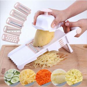 5in1 Cucumber Carrot Potato Slicer Peeler Grater Fruit Vegetable Cutter E LTCA