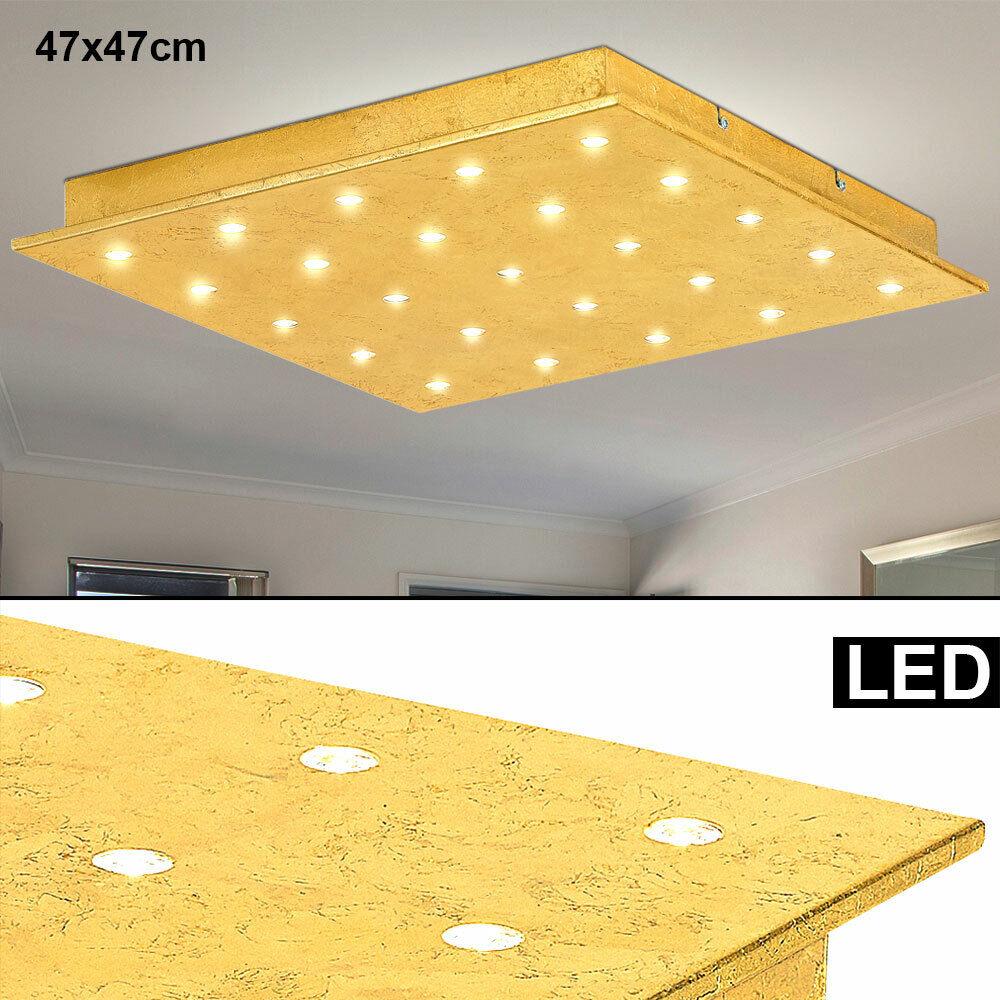 LED Decken Strahler Lampe Aufbau Panel Leuchte Gold Schlaf Zimmer Beleuchtung