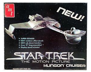 STAR-TREK-MOTION-PICTURE-MODEL-KIT-Klingon-Cruiser-AMT-1979-NEW-IN-BOX