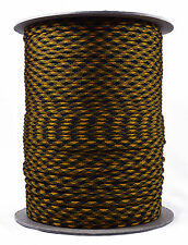 Goldenrod & Black - 550 Paracord Rope 7 strand Parachute Cord - 1000 Foot Spool