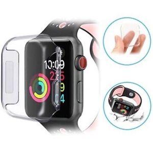 Custodia Cover TPU Protezione VETRO FUL per Apple Watch Series 5 4 3 40/44/42/38