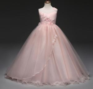 US-STOCK-Flower-Girl-Dress-Princess-Formal-Graduation-Bridesmaid-Gown-O99