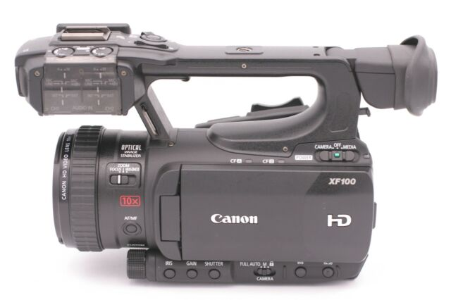Canon XF100 Professional (32 GB) HD 3D Camcorder Video Camera - Black