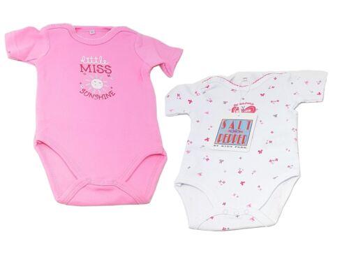 Salt /& Pepper Baby Girl Bodysuit Set babybody Short Sleeve 2er Pack 56 62 68 74