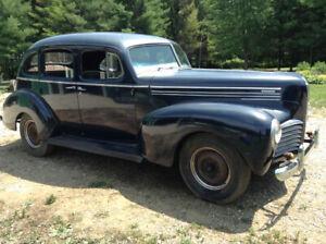 1940 Hudson Traveler 4D Suicide Sedan, 3 on the tree flat 6cyl