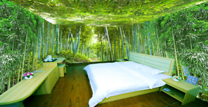 3D Green Bamboo Forest 7436 Wall Paper Wall Print Decal Wall AJ WALLPAPER CA
