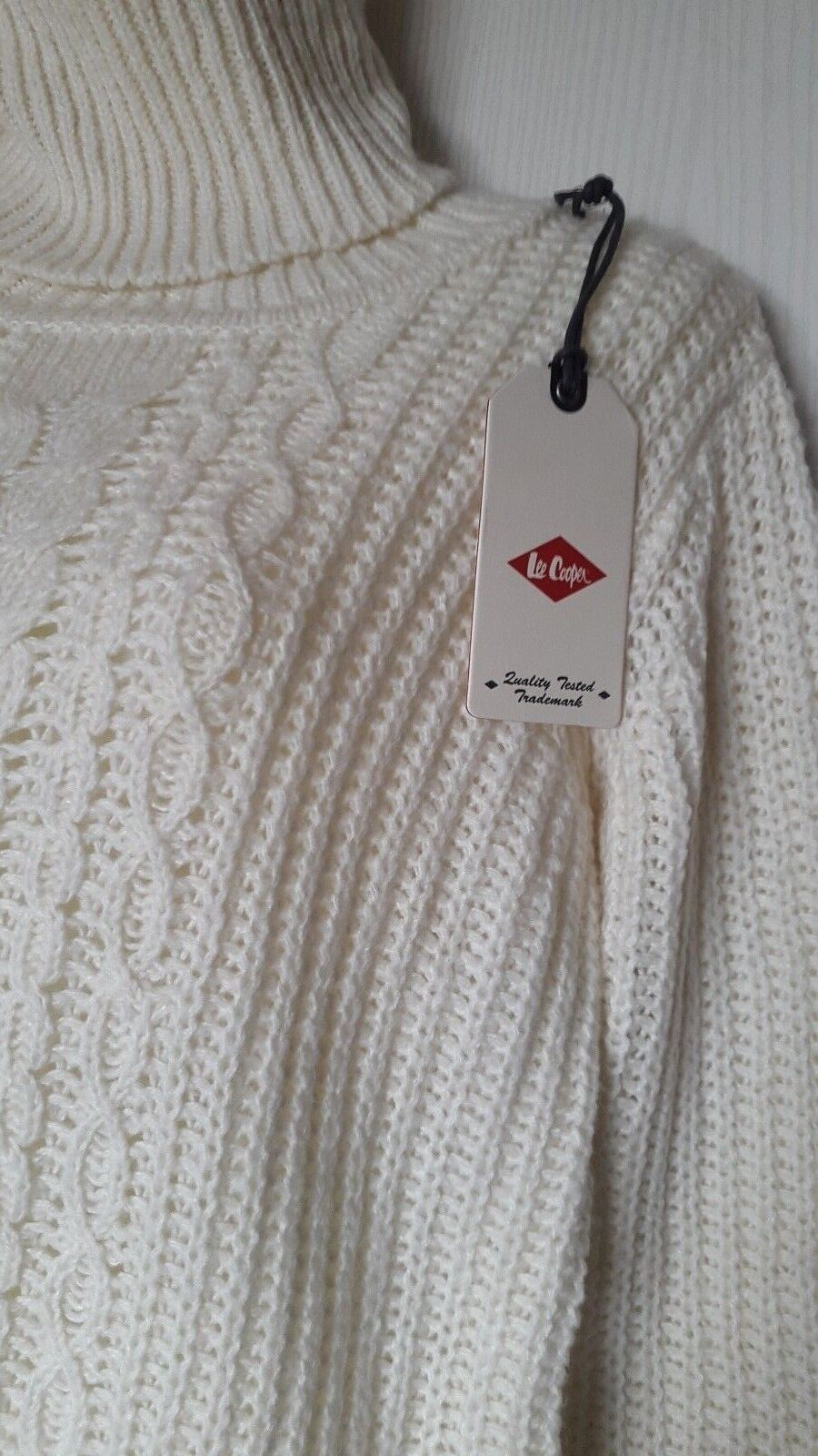 LEE COOPER WOMEN PULL PULL PULL COL ROULE MANCHES LONGUES size S (FR38-EU36-UK S) CREME 5e6a85