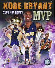 KOBE BRYANT 2009 MVP LOS ANGELES LAKERS 8 X 10 PHOTO/ULTRA PRO TOPLOADER