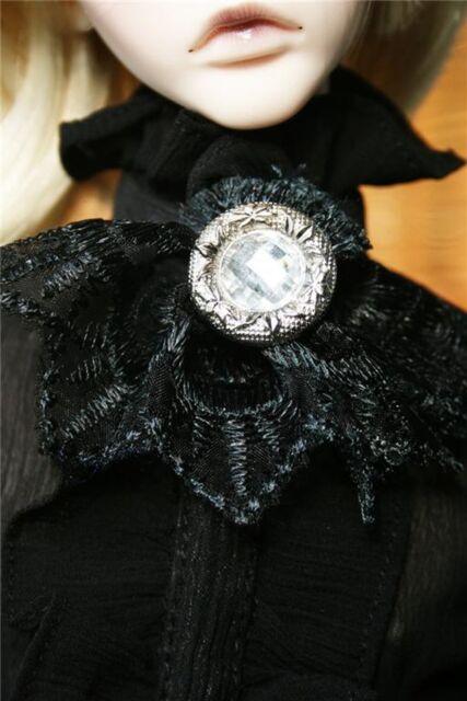 [wamami]Black Lace Collar Bow 1/3 & 1/4 SD MSD AOD BJD Dollfie