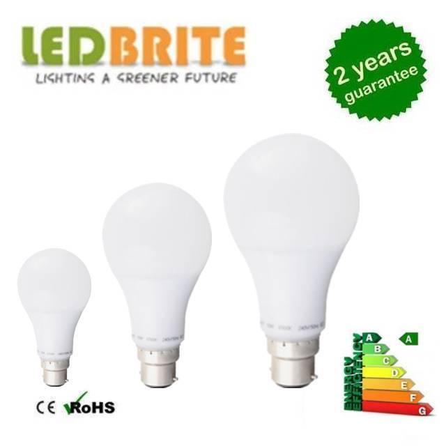 10 x BC DEL Baïonnette DEL Lampe Gls Style Traditionnel Lampe DEL Blanc Froid/Blanc Chaud 809e17