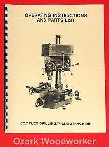 jet asian jet 16 drill milling machine instructions and parts manual rh ebay com Vertical Mill Machine Components CNC Milling Machine Manual