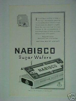 1921 Nabisco Biscuit Co. Sugar Wafers Cookie Print Ad