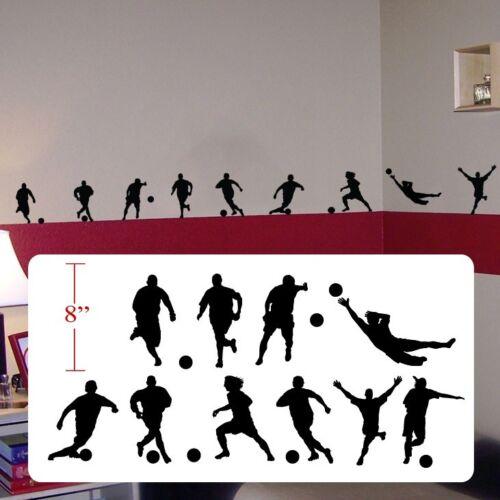 Soccer futbol player,soccer futbol silhouettes decal,fathead style sticker decal