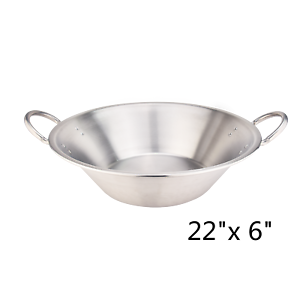 22-034-Mexican-Para-CaRnitas-Cazo-Stainless-Steel-Comal-Inoxidable-Wok-Cookware