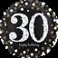 Folienballon Happy Birthday Geburtstag 30 Jahre Glamour Helium gefüllt
