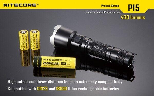 Nitecore PRECISION P15 CREE XP-G2 XP-G2 XP-G2 LED Taschenlampe 430 Lumen 42147a