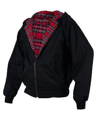 Hooded Harrington Veste Noir avec Capuche Jacket S M L XL XXL Xxxl 2xl 3xl
