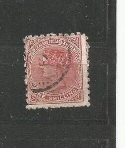 Queen-Victoria-NEW-ZEALAND-one-shilling-OLD-STAMPS-TIMBRES-SELLOS-timbres