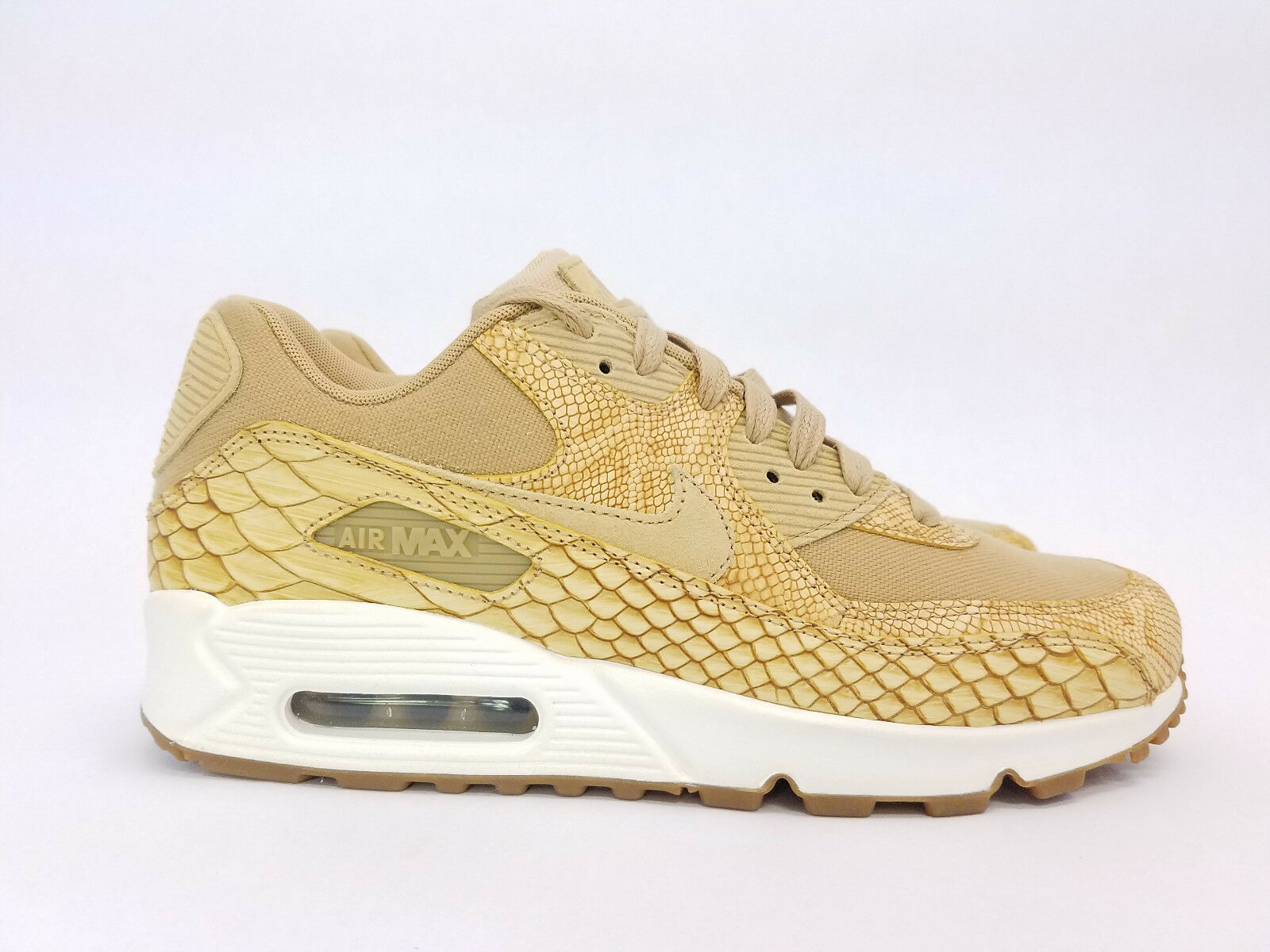 Nike Air Max 90 Premium LTR Vachetta Snake Skin Sz 9 NWOB AH8046-200 New shoes for men and women, limited time discount