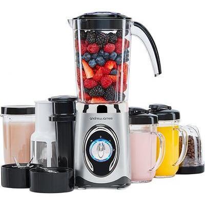 Andrew James 4 in 1 Smoothie Maker, Blender, Grinder, Juicer + Flip Lid Drinking