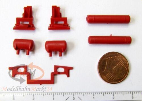 NEU für ROCO Dampflok 02 0201-0 Spur H0 1:87 Ersatz-Steckteilesatz rot z.B