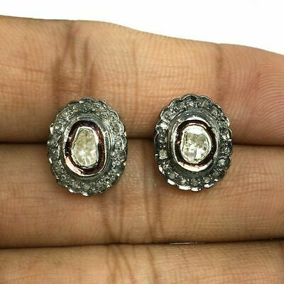 Polki Diamond Earring Gift For Her Victorian Antique Style Jewelry Pave Diamond Earring Natural Sapphire Diamond Earring Free Shipping